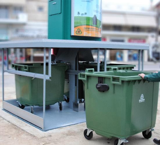 Υπόγειοι κάδοι απορριμμάτων - Πράσινα σημεία - καινοτομίες